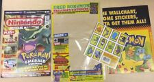 NINTENDO MAGAZINE Numéro 158 avec Pokemon Planche Murale et autocollants