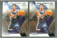 LOT (2) 2019-2020 JA MORANT Panini Mosaic NBA Debut #274 🔥 Rookie Card RC 🔥
