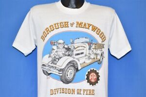 vtg 90s MAYWOOD BOROUGH FIRE FIRETRUCK ENGINE AHRENS FOX CINCINNATI t-shirt M