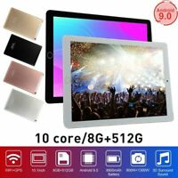 10.1 inch WiFi Tablet Android 9.0 Pad 8+512GB 10 Core GPS Dual Camera 2021