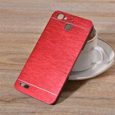 para HUAWEI P9, Carcasa Funda Estuche Rígido Aluminio Pulido Rojo Red