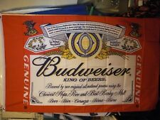 "Budweiser Beer Flag 3' X 5' (R+Y) Premium Party Decoration Banner ""USA Seller"""