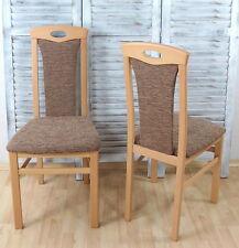 2x Esszimmerstühle Stühle Polsterstühle Farbe: Buche-Natur/Cappuccino