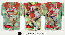 2009 Select NRL Champions Holofoil Jersey Die Cut Team Set Dragons (12)