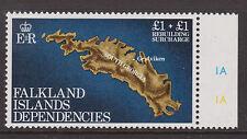 FALKLAND IS. DEPS - 1982 REBUILDING £1 WATERMARK ERROR MNH  SG.112w  (REF.A7)