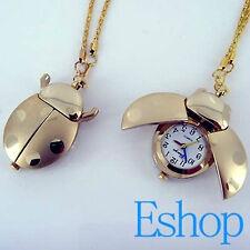 Ladybug Pendant Necklace Quartz Watch