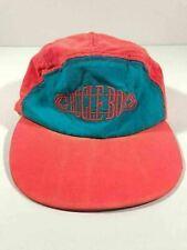 Vintage 90's Bugle Boy Nylon Hat Cap Sun Protection - Neon Blue Pink Retro