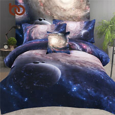 3pcs Bed in a Bag Galaxy 3D Bedding Set Kids Home Textiles Twin Full Queen King