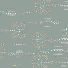 Art Gallery Fabrics - Morning Walk  Desert Needlework geometric pastel grey 1mt