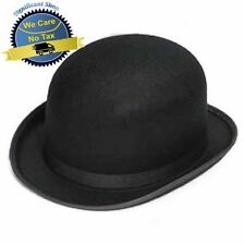 Traditional Black Derby Bowler Bob Felt Hat Church Wedding Fashion Men Style NEW