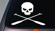 KAYAK SKULL KAYAKER CANOE ROWING OARS FLAT BOTTOM RACING STICKER DECAL 6""