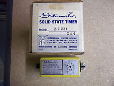 IntermaticSolid StateTime Delay Relay .5-30sec Model SS21662Y Tape on Id Plate