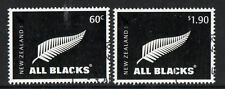 NEW ZEALAND 2010 ALL BLACKS RUGBY STAMPS  FINE USED