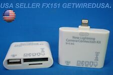 us seller 8-PIN iPAD MINI AIR 3 4 CARD READER USB KEYBOARD THUMB DRIVE