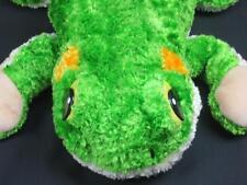BIG ASHDON FARMS GREEN YELLOW FROG PLASTIC EYES FLOPPY LEGS PLUSH STUFFED ANIMAL