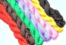 30m nylon thread/cord in various colors 1mm  for Shamballa Beads or jewel making