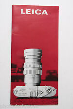 Leica Leitz M2 Sales Brochure Book Pamphlet - English - Used B52
