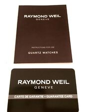 Raymond Weil Operational Manual for Quartz Watches
