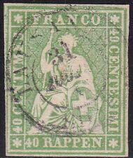 1855-57 Schweiz/SUISSE/Schweiz, UNIF. n ° 30d 40r. Grün