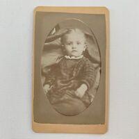 Antique CDV Photograph Victorian Baby Girl Child Bloomington Illinois IL