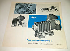 Product Detail Sheet for the Leitz / Leica Focusing Bellows II, from 1966