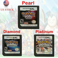 Pokemon Platinum Pearl Diamond Game Card for Nintendo 3DS/DSI NDS NDSL Lite US