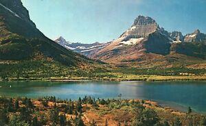 Vintage Postcard Many Glacier Area Glacier National Park Northwestern Montana