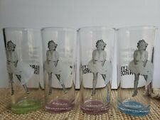 Marilyn Monroe Collectible Highball Thick Glasses Set of 4~Famous Quotes 12 oz