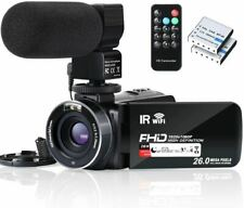 Video Camera Camcorder WiFi IR Night Vision FHD 1080P 30FPS YouTube Vlogging Cam