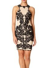 BNWT Forever Unique Giselle Lace Applique Illusion Mesh Shift Dress UK8 RRP £250