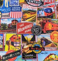 Vintage Railroad Train Sign Fabric Face Mask Double Layer Handmade Filter Pocket