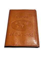 Abas USA Citizen of the World Orange Leather Passport Case