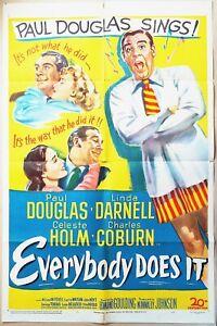 Everybody Does It 1949  Paul Douglas, Linda Darnell, Celeste Holm US Poster