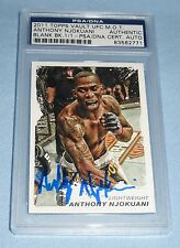 Anthony Njokuani Signed UFC Topps Moment of Truth 1/1 Card PSA/DNA Gem Mint 10
