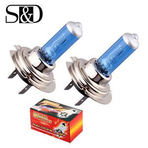 2Pcs H7 White Fog Halogen Bulbs 100W Auto Car Driving Light Lamps 5000K 12V