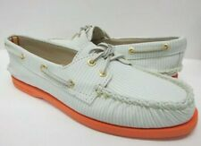 New Women's Sperry Top-Sider A/O Minty Green Striped Size 7.5M