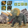 Remote Control Walking Dinosaur Triceratops Toy Model Light Sound Action Figure