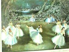 GRAVURE ANCIENNE EN POUDRE DE BRONZE D'HENRI DE NAC : BALLERINE danse GISELE
