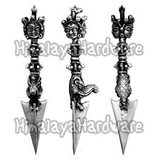 Silver Phurba Kila Dorje Vajra Knife Dagger .925 Sterling Tibet Nepal Buddhist