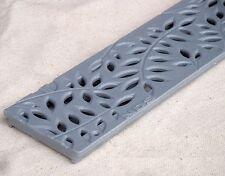 3 Ft. NDS 554GY Mini Botanical Channel Deck Drain Gray Grate
