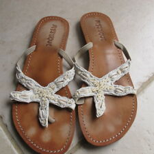 Mystique Cream Shells and Beads sandals. Size 7. Good condition.