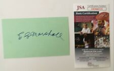 E.G. Marshall Signed Autographed 3x5 Card JSA Certified Defenders 12 Angry Men