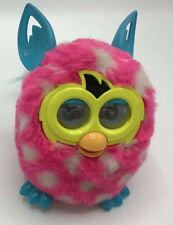 Furby Boom Pink and white Polka Dots Interactive Electronic Pet Working Fully