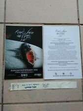 Roger Waters Live in Athens 2011 MEGA RARE Leaflets + Wristband poster