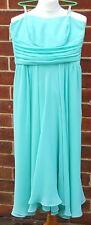 DEBENHAMS Debut Ladies Strapless Light Green Polyester Mid Length Dress UK 10