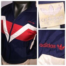Rare 70s 80s Adidas Trefoil Victory V Windbreaker Jacket Track DMC MEN S-M