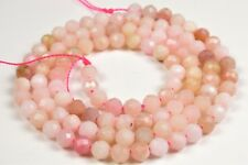 """Peruvian Pink Opal Small Faceted Round Bead - 3.9-4.0 mm - 15.5"""" strand - 6381A"""