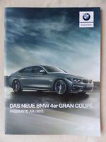 BMW 4er Gran Coupe F36 - Preisliste - Prospekt Brochure 07.2017