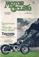 Jan 3 1952 TRIUMPH '650 Thunderbird' Motor Cycle AD: Magazine Cover Print ADVERT