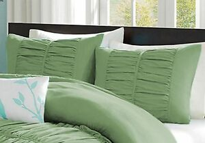 Center Gathered Pillow Shams 1000 TC 100% Egyptian Cotton Solid All Size & Color